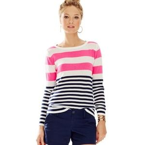 •LILLY PULITZER• Gwyneth Striped Pullover Sweater.